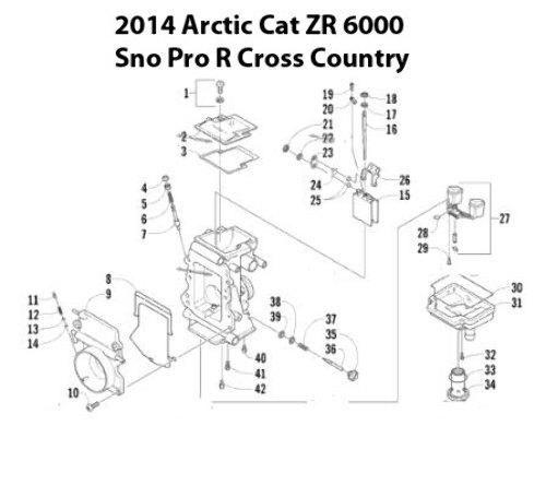 Arctic Cat ZR 6000 Snowmobile TM40-B433 Carburetor Rebuild