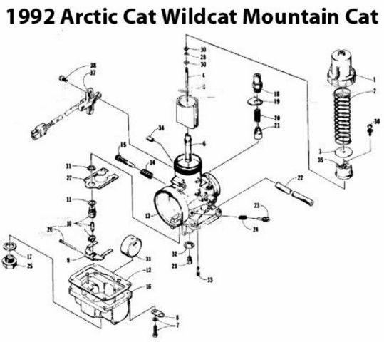 Arctic Cat Wildcat 650 Mountain Cat Snowmobile Carburetor