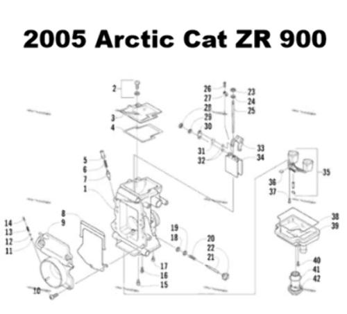 Arctic Cat Mountain Cat 900 Snowmobile Carburetor Rebuild