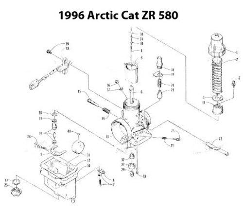 Arctic Cat ZR 580 Snowmobile Carburetor Rebuild Kit 1003