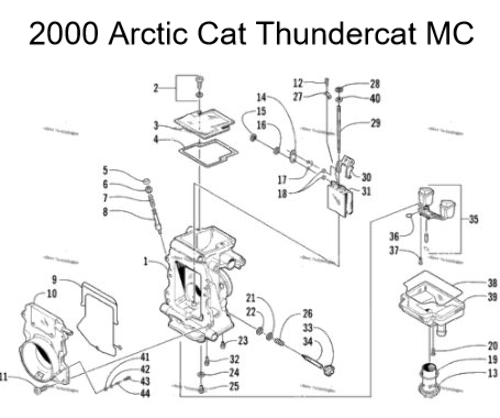 Arctic Cat Thundercat Mountain Cat Snowmobile Carburetor