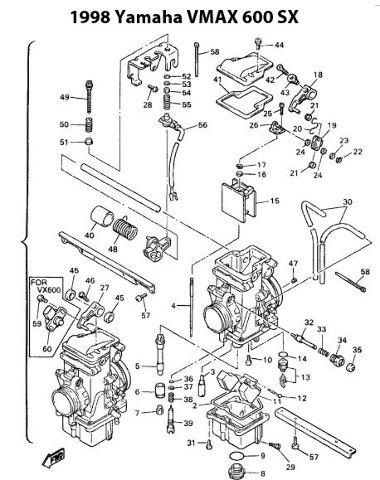 Yamaha V-Max 600 XT Snowmobile Carburetor Rebuild Kit 1003