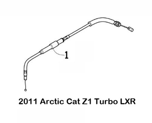 Replacement Throttle Cable for Arctic Cat Bearcat 5000