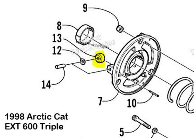 Driven Clutch Plastic Roller Three Pack for Arctic Cat