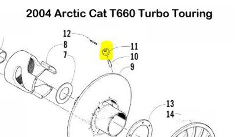 2011 Arctic Cat M8 Secondary Clutch