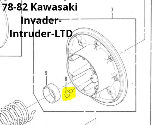 Teflon Driven Clutch Wear Shoe Three Pack for Kawasaki