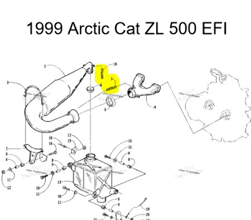 Snowmobile Exhaust Spring Kit for 1999-2000 Arctic Cat