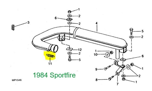 John Deere Trailfire Sportfire Snowfire Sprintfire Exhaust
