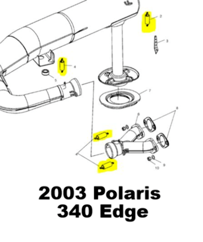 Polaris Indy 400 SKS 400 Classic Snowmobile Exhaust Spring