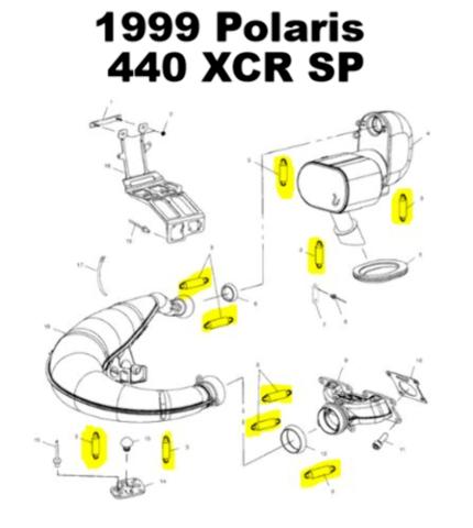 Polaris 440 XCR 600 RMK 500 XC Snowmobile Exhaust Spring