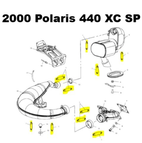 Polaris 440 Pro X Snowmobile Exhaust Spring Replacement