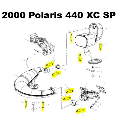 Polaris 440 Pro X Snowmobile Exhaust Spring Replacement