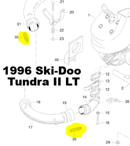 Ski-Doo Tundra II LT Snowmobile Exhaust Spring Replacement