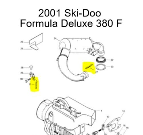 Ski-Doo Skandic 380 Touring E Snowmobile Exhaust Spring