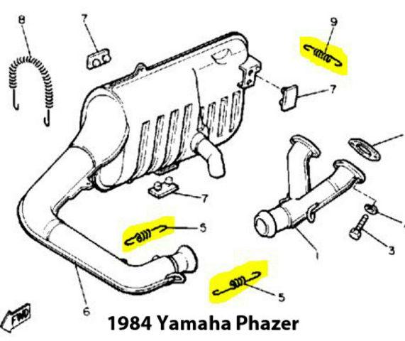 Yamaha Phazer Snowmobile Exhaust Spring Replacement Kit