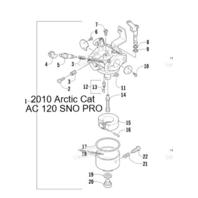 Arctic Cat 120 Sno-Pro ZR120 Carburetor Rebuild Kit