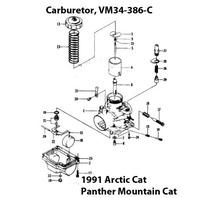 Arctic Cat Panther Mountain Cat Snowmobile VM34-386-C