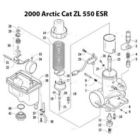 2000-2003 Arctic Cat ZL 550 ESR Snowmobile Carburetor