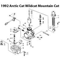 Arctic Cat Wildcat 650 Mountain Cat Snowmobile Carburetor