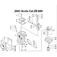 Arctic Cat ZR 600 Snowmobile Carburetor Rebuild Kit 1003