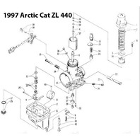 Arctic Cat ZL 440 Snowmobile VM36-166 Carburetor Rebuild