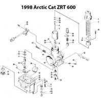 1998-2000 Arctic Cat ZRT 600 Snowmobile Carburetor Rebuild