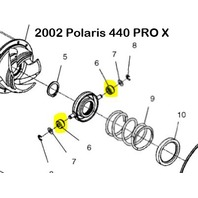 Driven Clutch Roller for Arctic Cat (with TEAM clutch) and