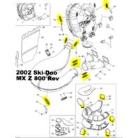 Ski-Doo Summit 500 583670 Snowmobile Exhaust Replacement