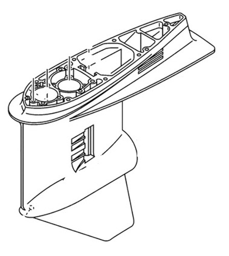 Yamaha 90 Degree 2 Stroke Engines Gearcase Housing 6J9