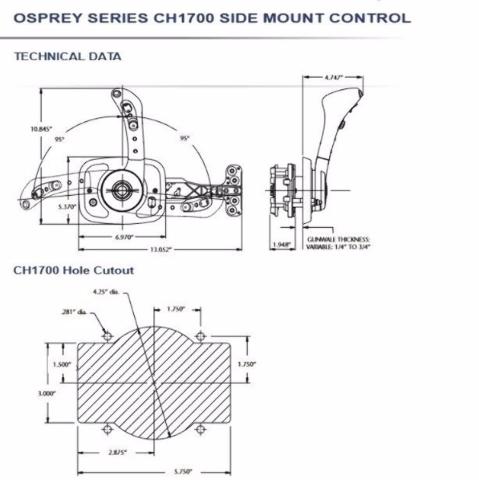 SeaStar Control Box Trim CH1751P Yamaha Mercury Johnson