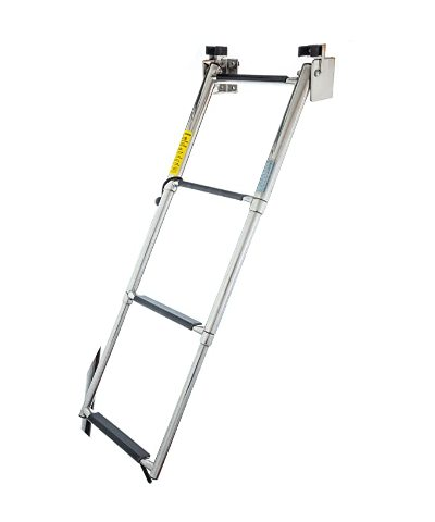 Garelick 19684 Telescopic 4-Step Ladder St. Steel Transom