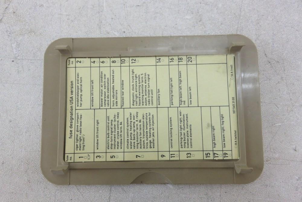 medium resolution of passenger footwell 89 mercedes r107 560sl 380sl trim fuse box cover