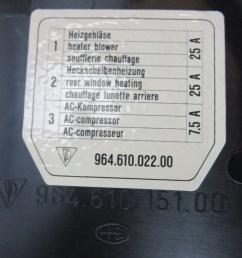 96461015100 90 porsche 911 964 c2 fuse box housing engine compartment  [ 1600 x 1068 Pixel ]