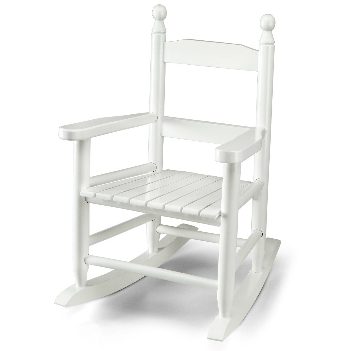 White Wood Chair Wooden Rocking Chair For Kids White Ebay