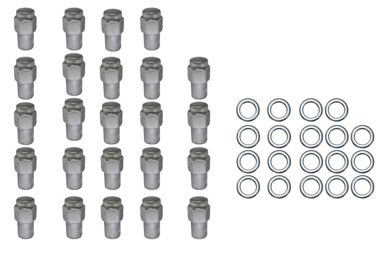 24 Pc Set Chrome Steel Mag Shank Lug Nuts 7 16 X 20 Righ
