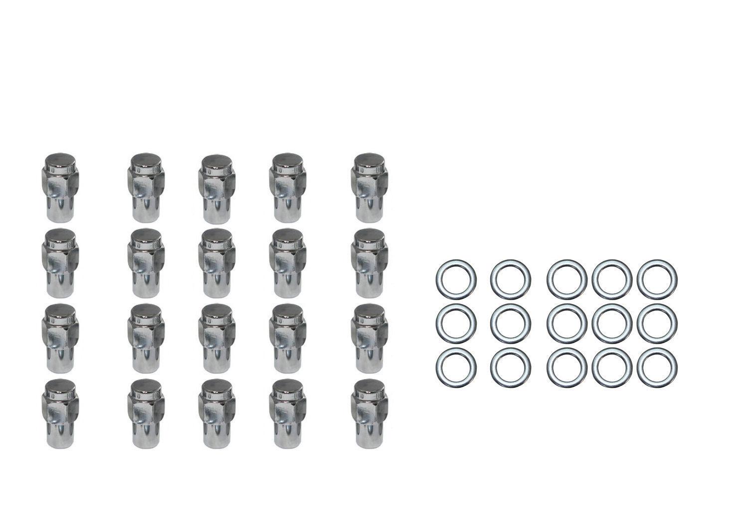 20 Pc Set Chrome Steel Mag Shank Lug Nuts 1 2 X 20 Right