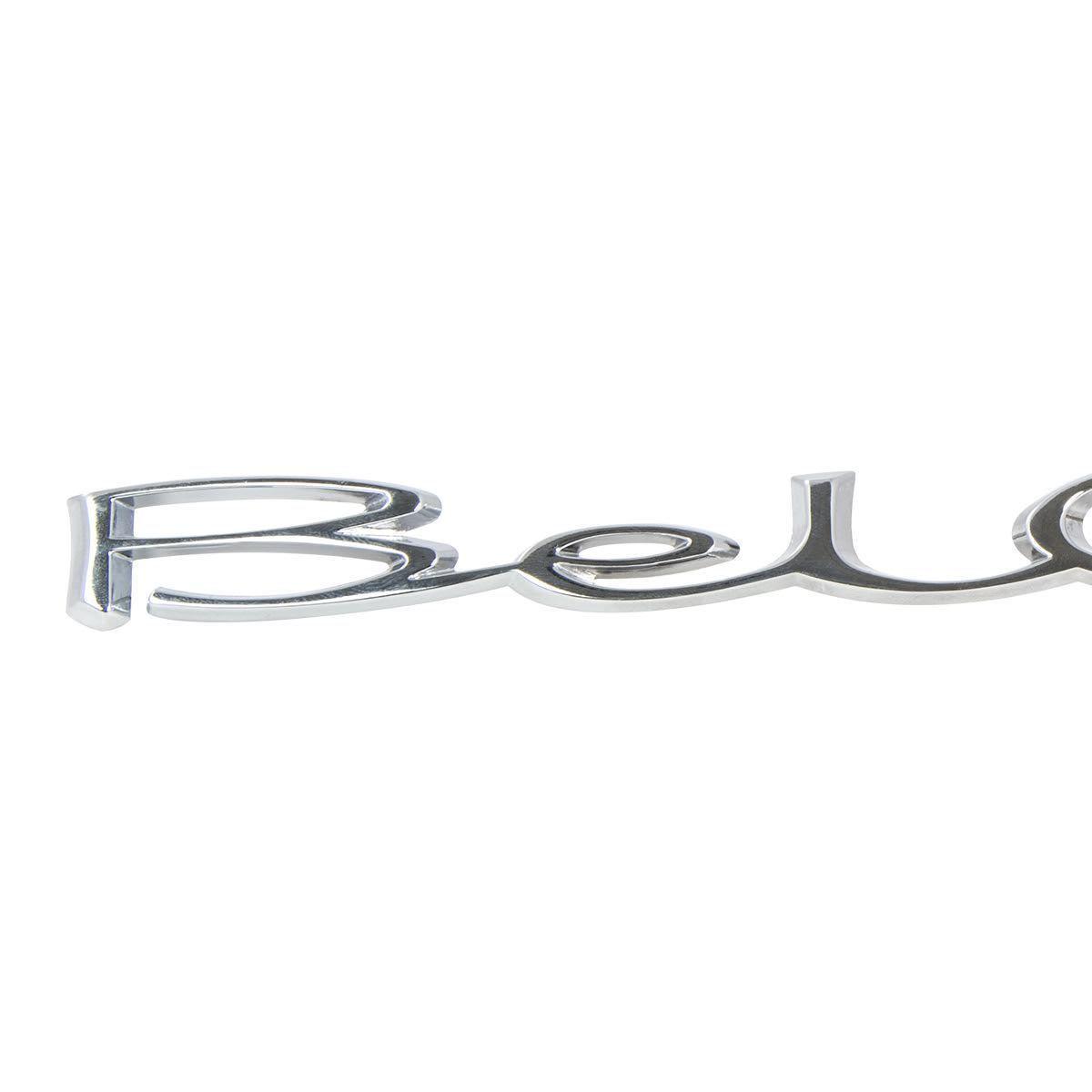 1965-1966 Chevy Bel Air Rear Quarter Panel Script Emblem