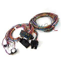 complete universal 12v 24 circuit 20 fuse wiring harness wire kit v8 rat hot rod  [ 1000 x 998 Pixel ]