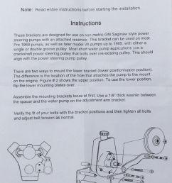 black saginaw power steering pump mounting bracket chevy gm sbc v8 [ 816 x 1200 Pixel ]