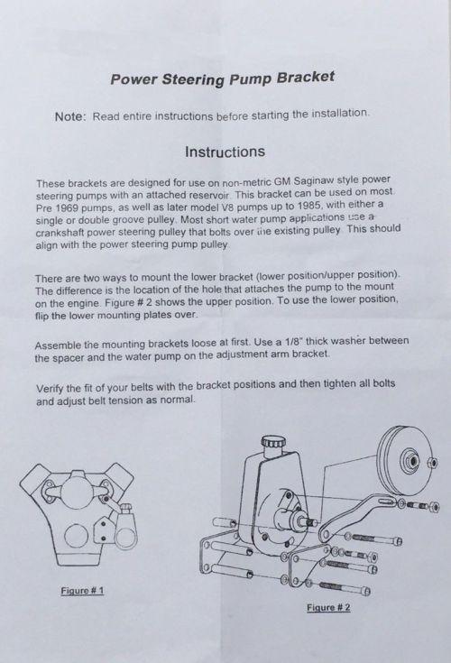 small resolution of  black saginaw power steering pump mounting bracket chevy gm sbc v8