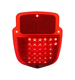 38 red led sequential tail light 1953 56 ford truck left hand  [ 1000 x 1000 Pixel ]