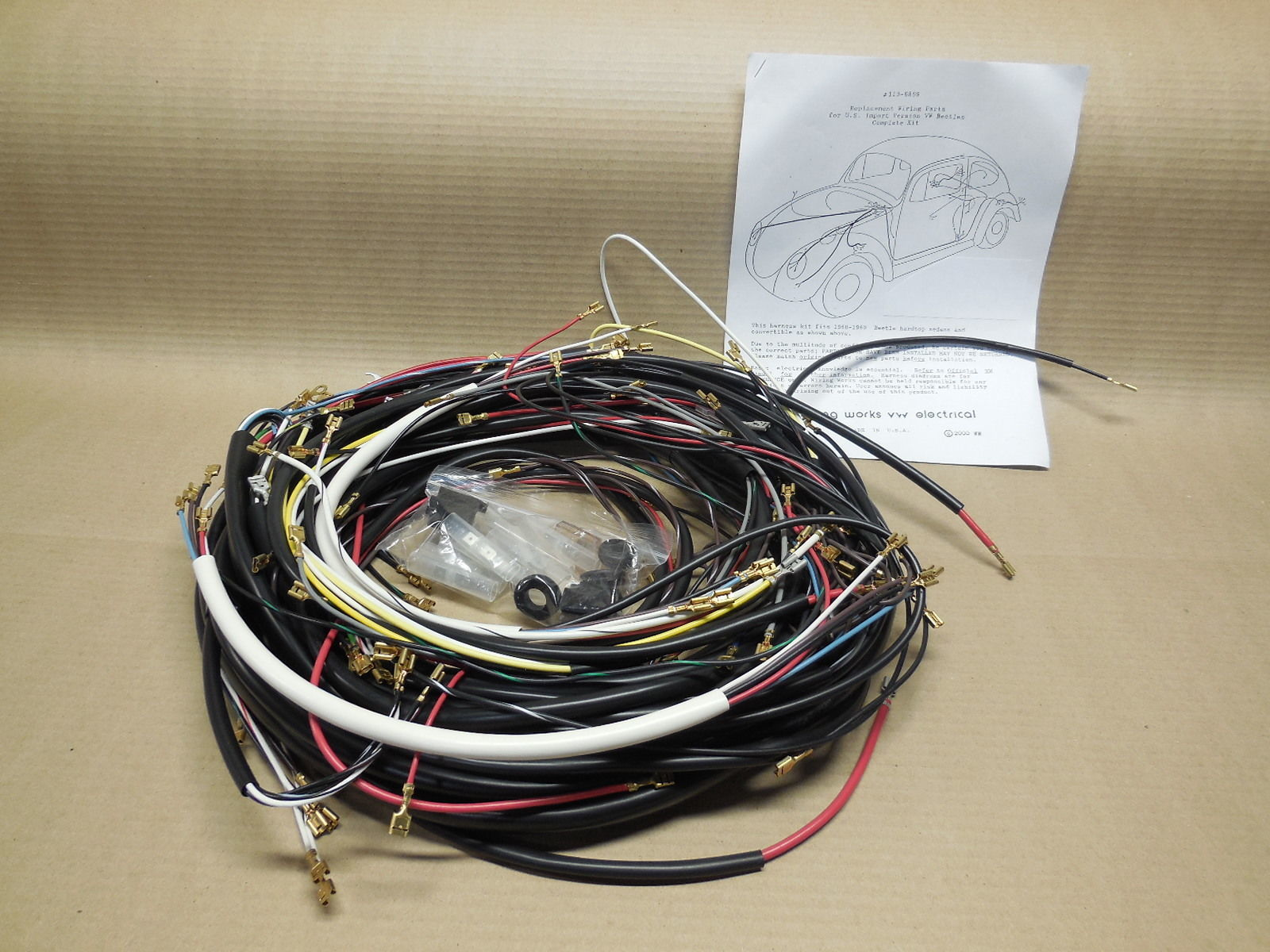 hight resolution of diy wiring harness for vw bugs diagrams online details about vw dune buggy wiring harness finished quotplug and play