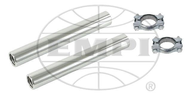 EMPI VW Bug VW Beetle Bus Ghia Stock Chrome Tail Pipe Kit