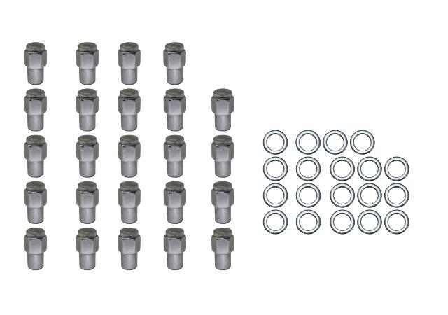 24 Pc Set Chrome Steel Mag Shank Lug Nuts 12MM x 1.5 For