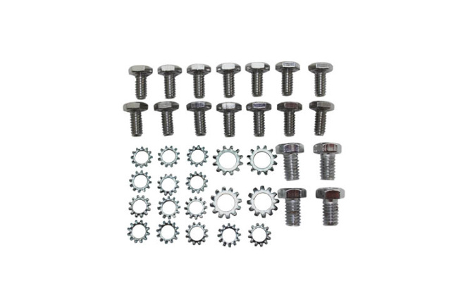 Small Block Chevy Chrome Oil Pan Bolt & Washer Kit 283 327