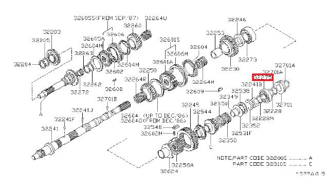 New Genuine Nissan Manual Transmission Output Shaft