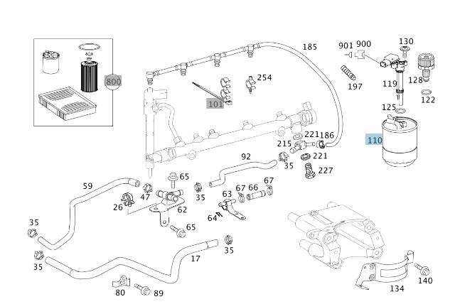New Genuine Mercedes Sprinter Fuel Filter 6420920101 OEM