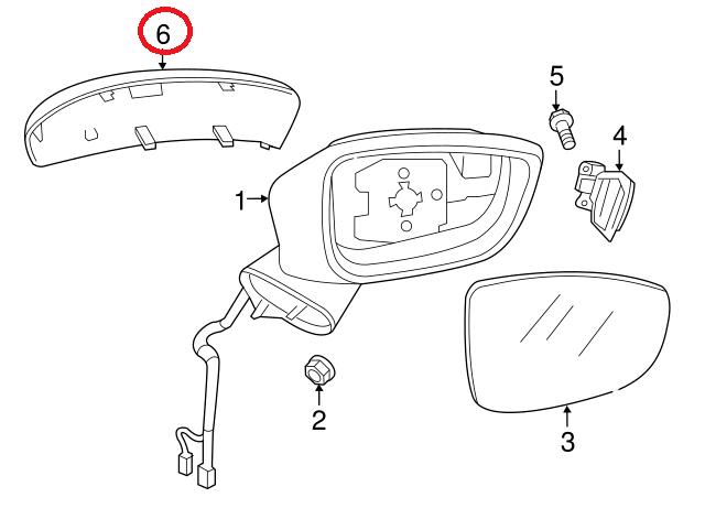 Genuine Mazda CX-5 Mirror Housing Cap Cover Right