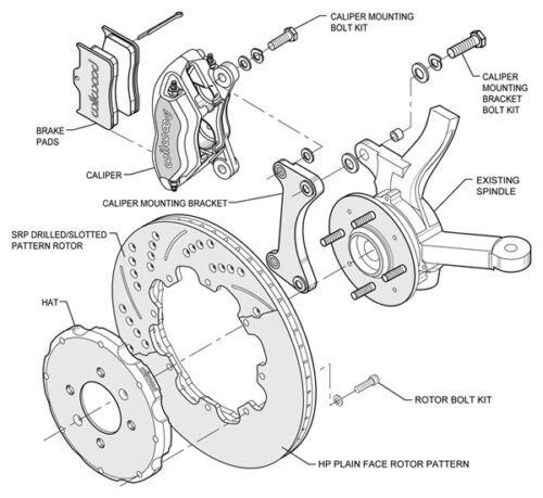 Wilwood Disc Brake Kit,Honda Civic,6310,10211,12