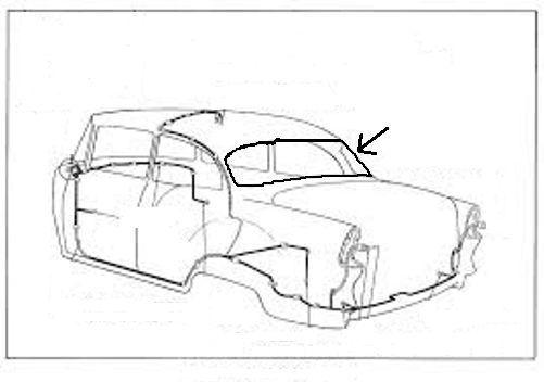 Rear Window Rubber Weatherstrip Seal for Chevrolet Bel Air